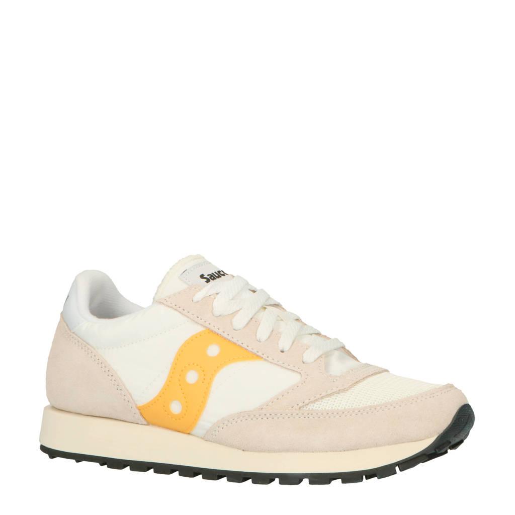 Saucony Jazz Original Vintage sneakers ecru/geel, Ecru/geel