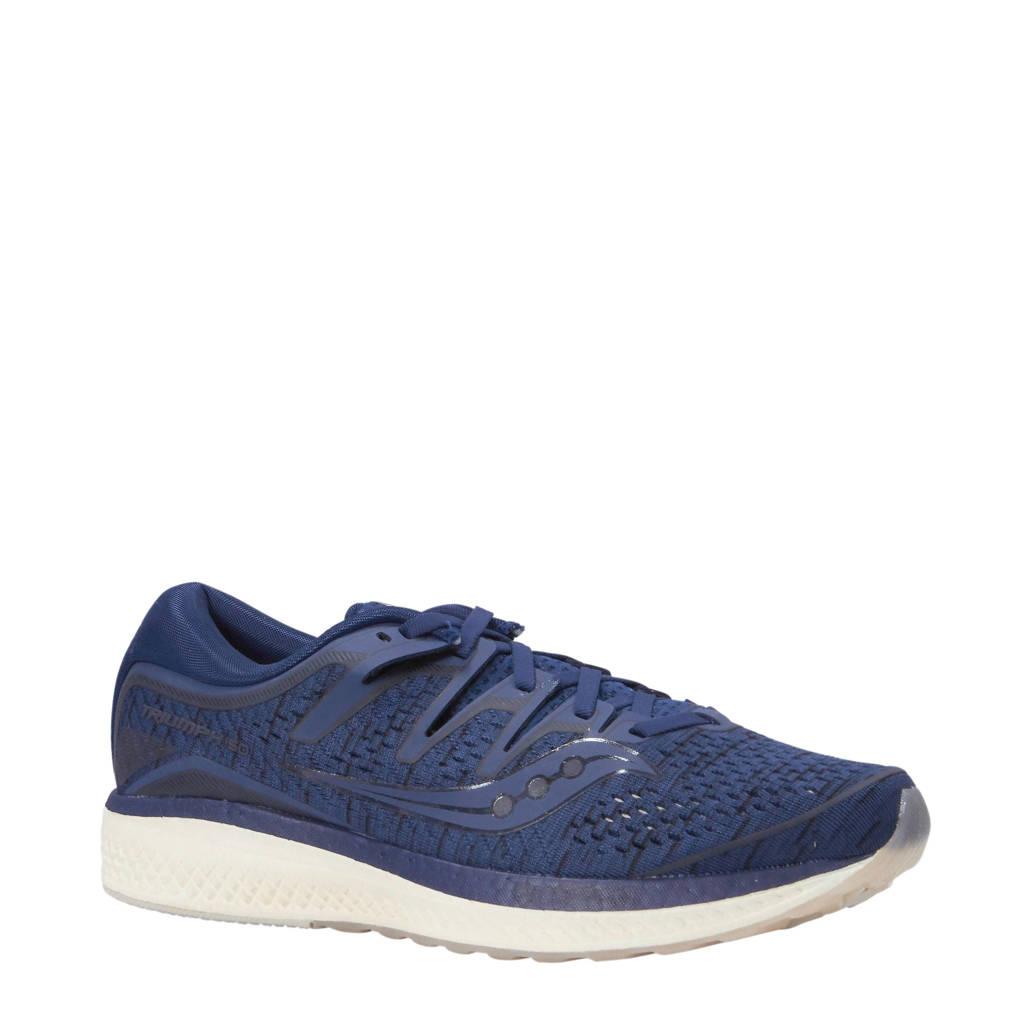 Saucony   Triumph ISO 5 hardloopschoenen, Blauw/wit
