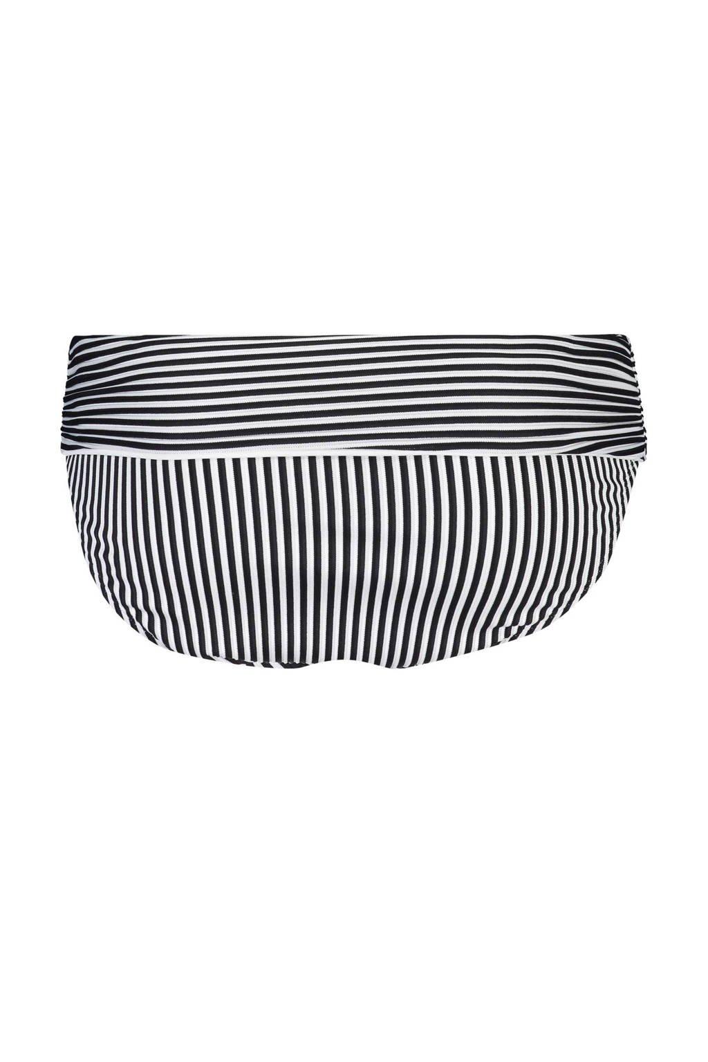 Hunkemöller Mix & Match omslag bikinibroekje Straps & Stripes, Zwart/wit