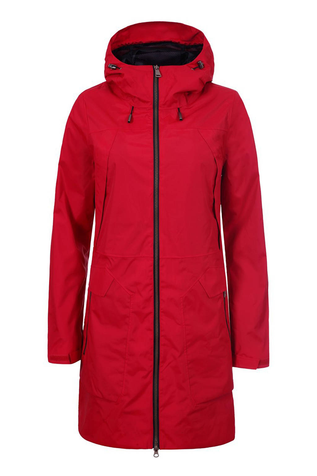 Luhta Gabi lange outdoorjas rood, Rood