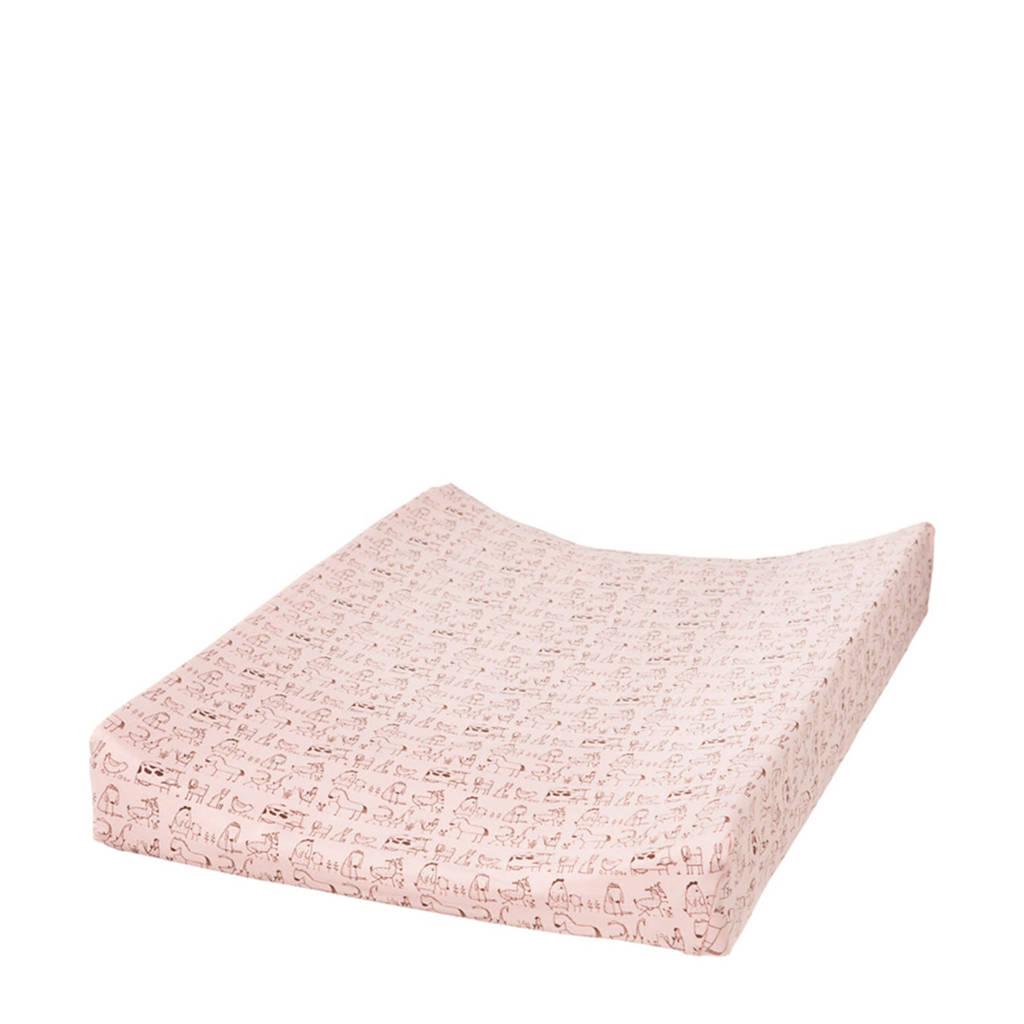 Cottonbaby waskussenhoes dierenprint roze, Roze