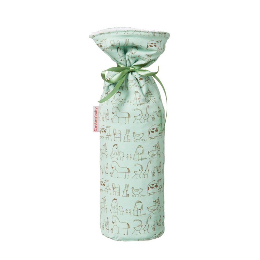 Cottonbaby kruikenzak dierenprint groen, Groen