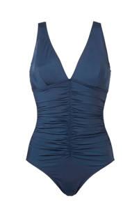 whkmp's beachwave corrigerende badpak met beugel blauw, Donkerblauw