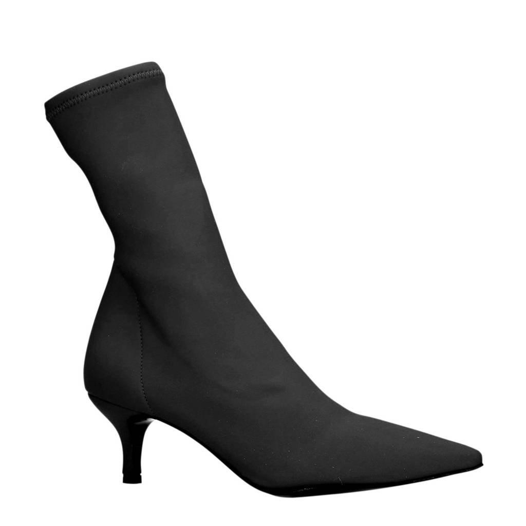 Sacha sock boots zwart, Zwart