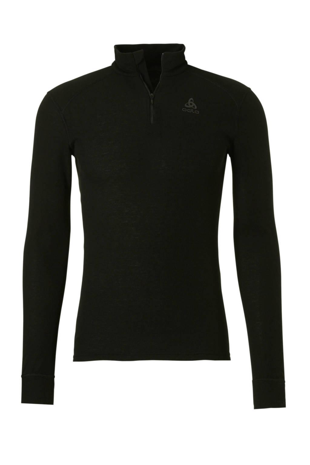 Odlo thermo sport T-shirt zwart, Zwart