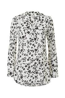 Miss Etam Regulier blouse met v-hals print en lange mouw (dames)