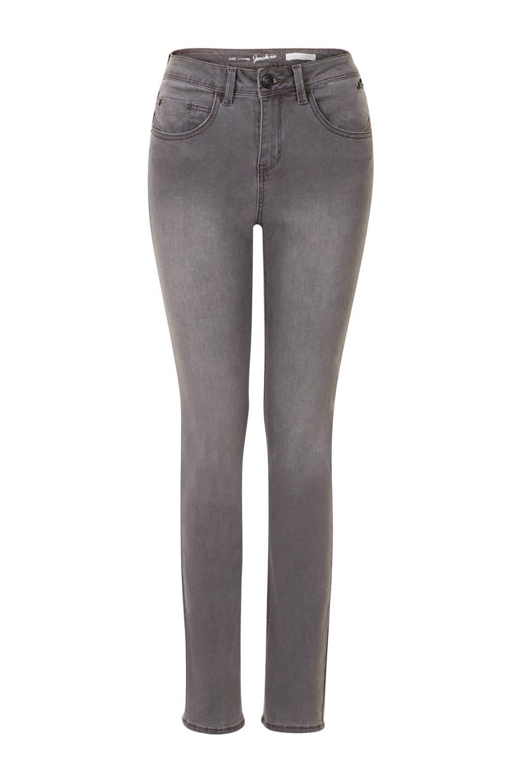 Miss Etam Regulier  straight fit jeans Jackie 32 inch grijs, Grijs