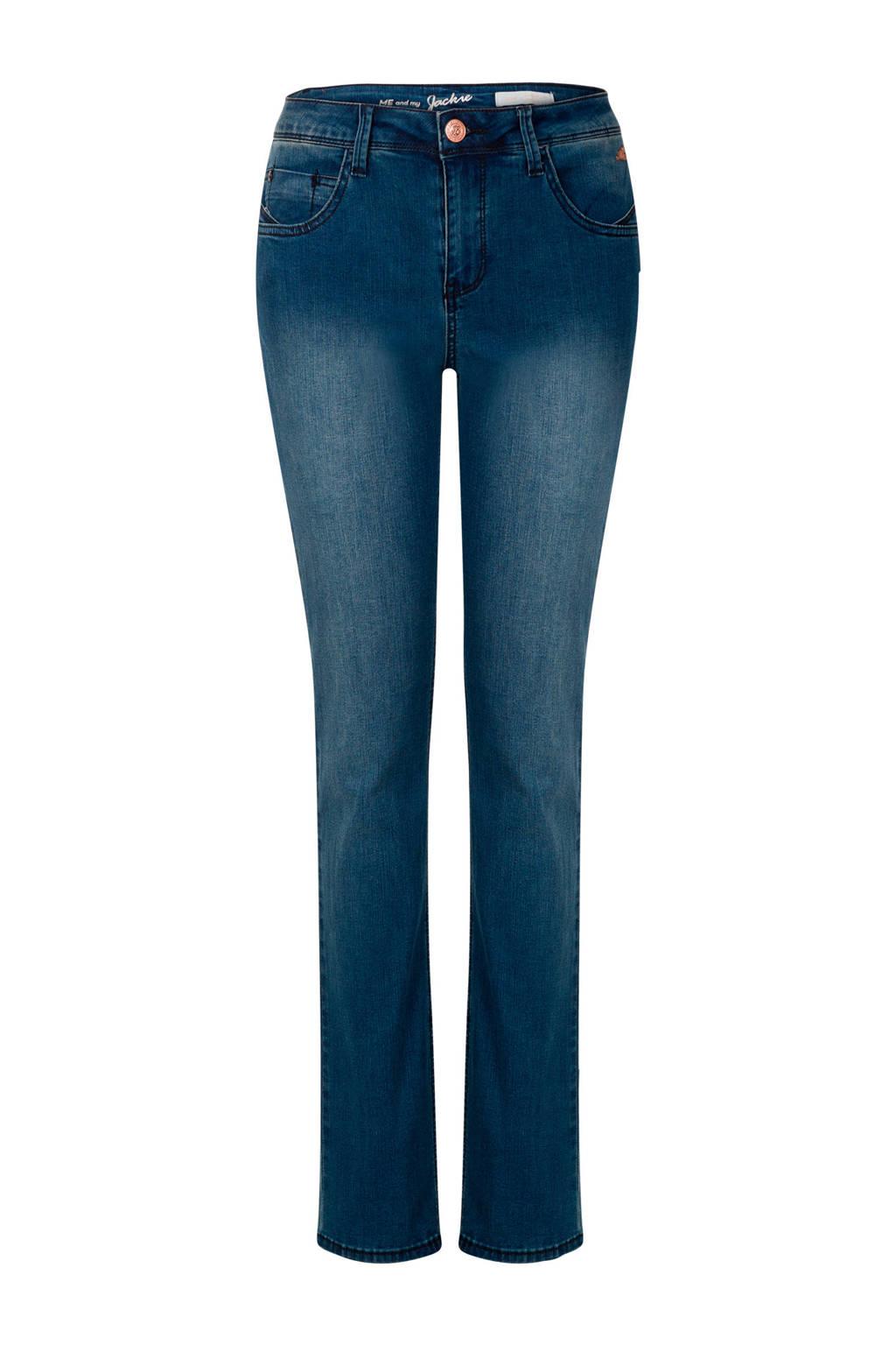 Miss Etam Regulier slim fit jeans Jackie blauw, Blauw
