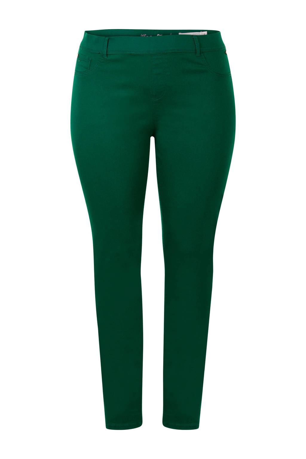 Miss Etam Plus slim fit tregging groen, Groen