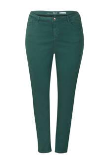 Plus slim fit broek groen