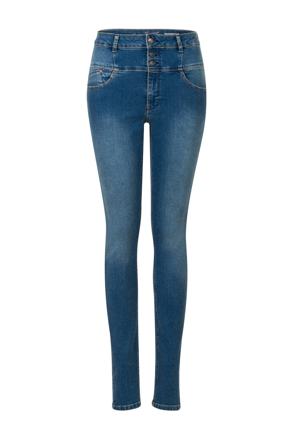 Miss Etam Regulier jeans Havana high wasted blauw, Blauw