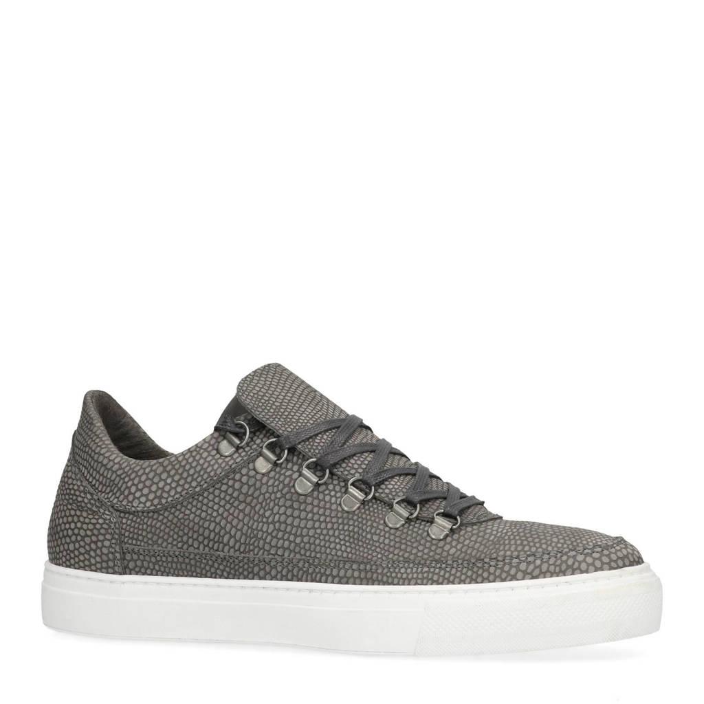 3ba0f702e2f Sacha leren sneakers met slangen print grijs | wehkamp