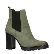 leren chelsea boots groen