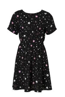 Here & There jurk met sterren zwart