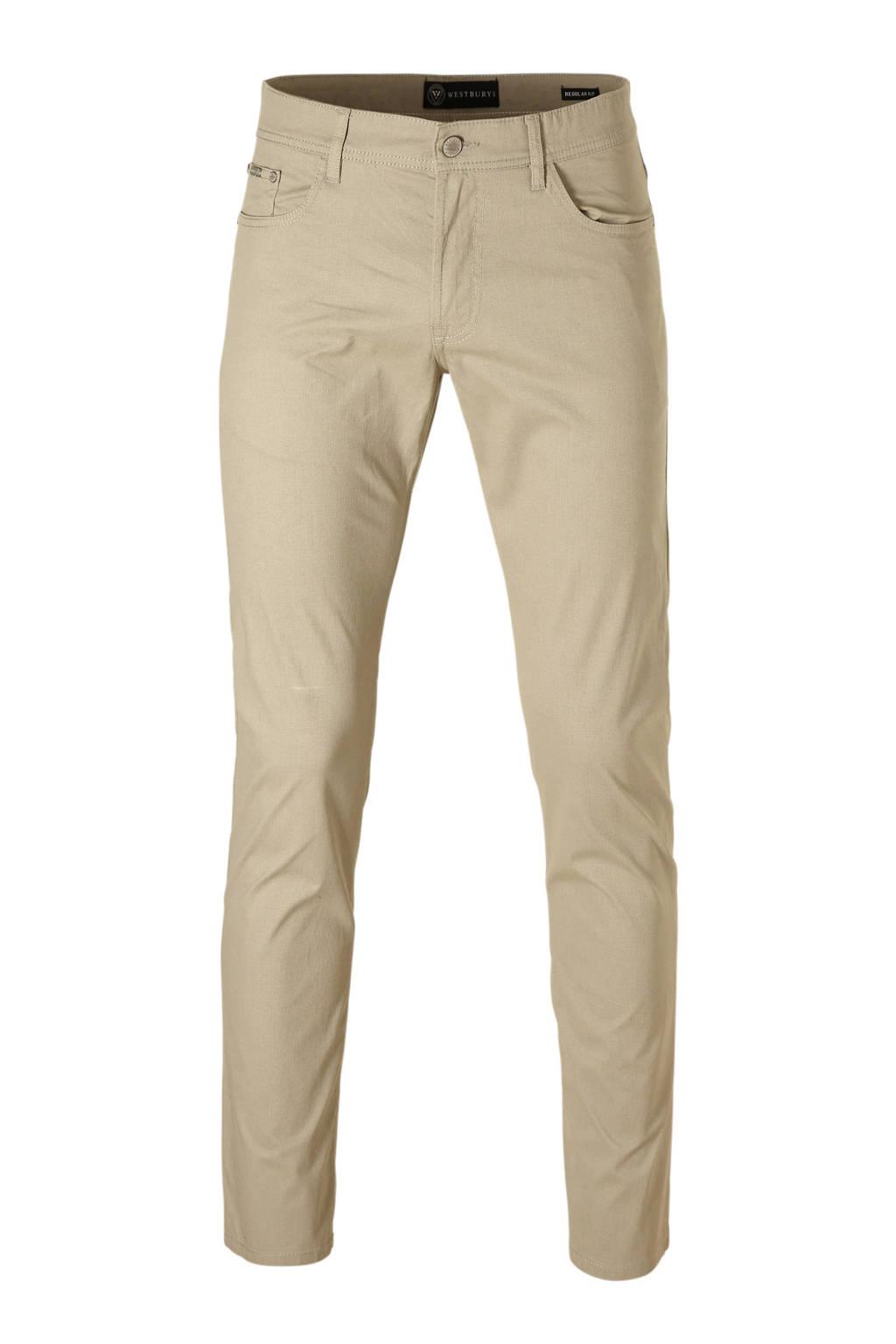 C&A Westbury regular fit broek beige, Beige