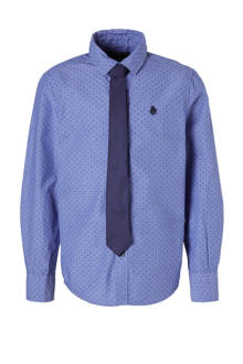 Here & There overhemd met stippen blauw