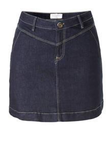 denim rok donkerblauw