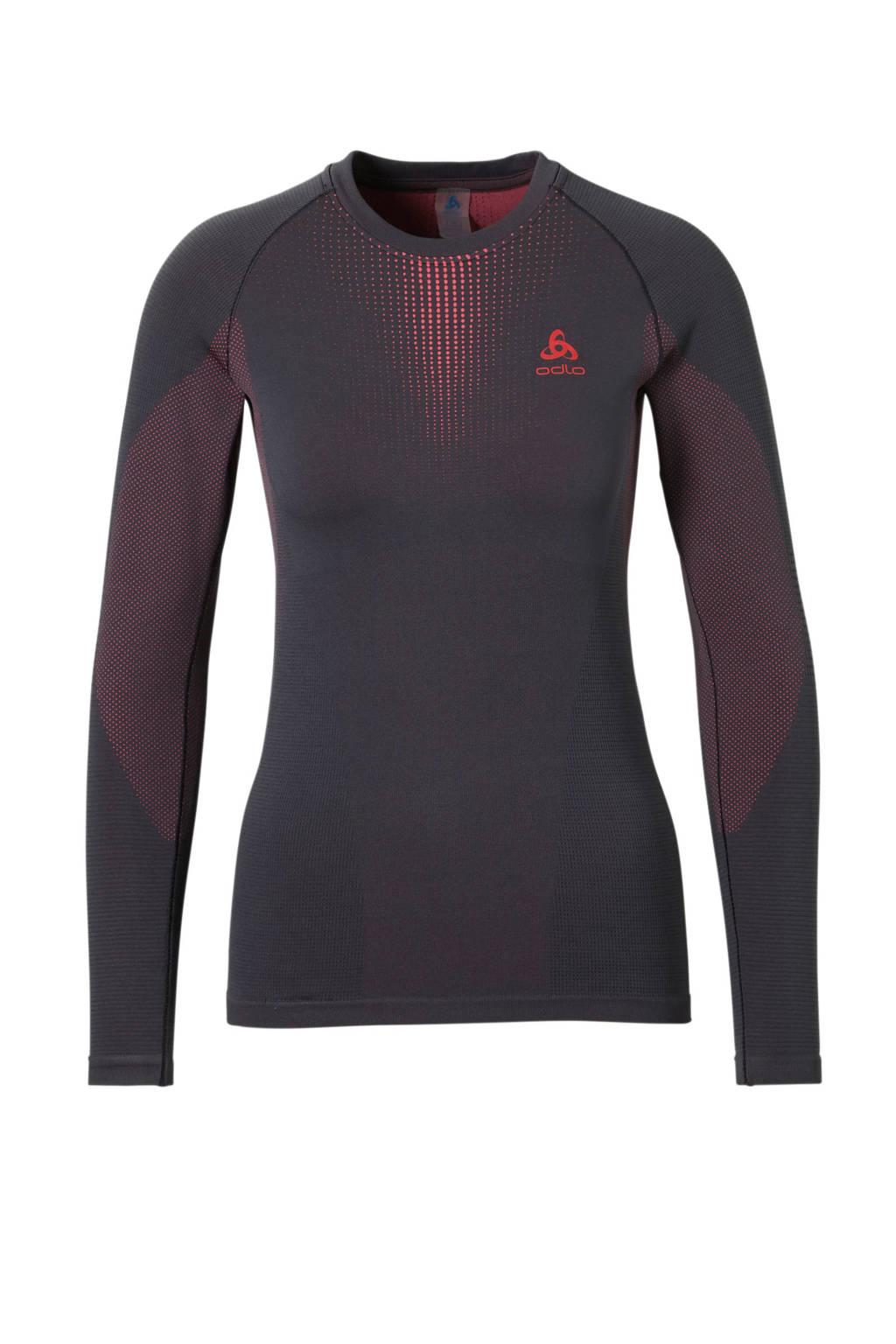 Odlo thermo shirt, Antraciet/roze