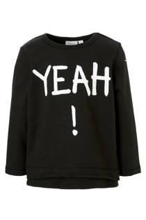 name it MINI sweater Molas met tekst zwart (jongens)