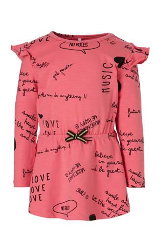 MINI tuniek met tekstopdruk roze