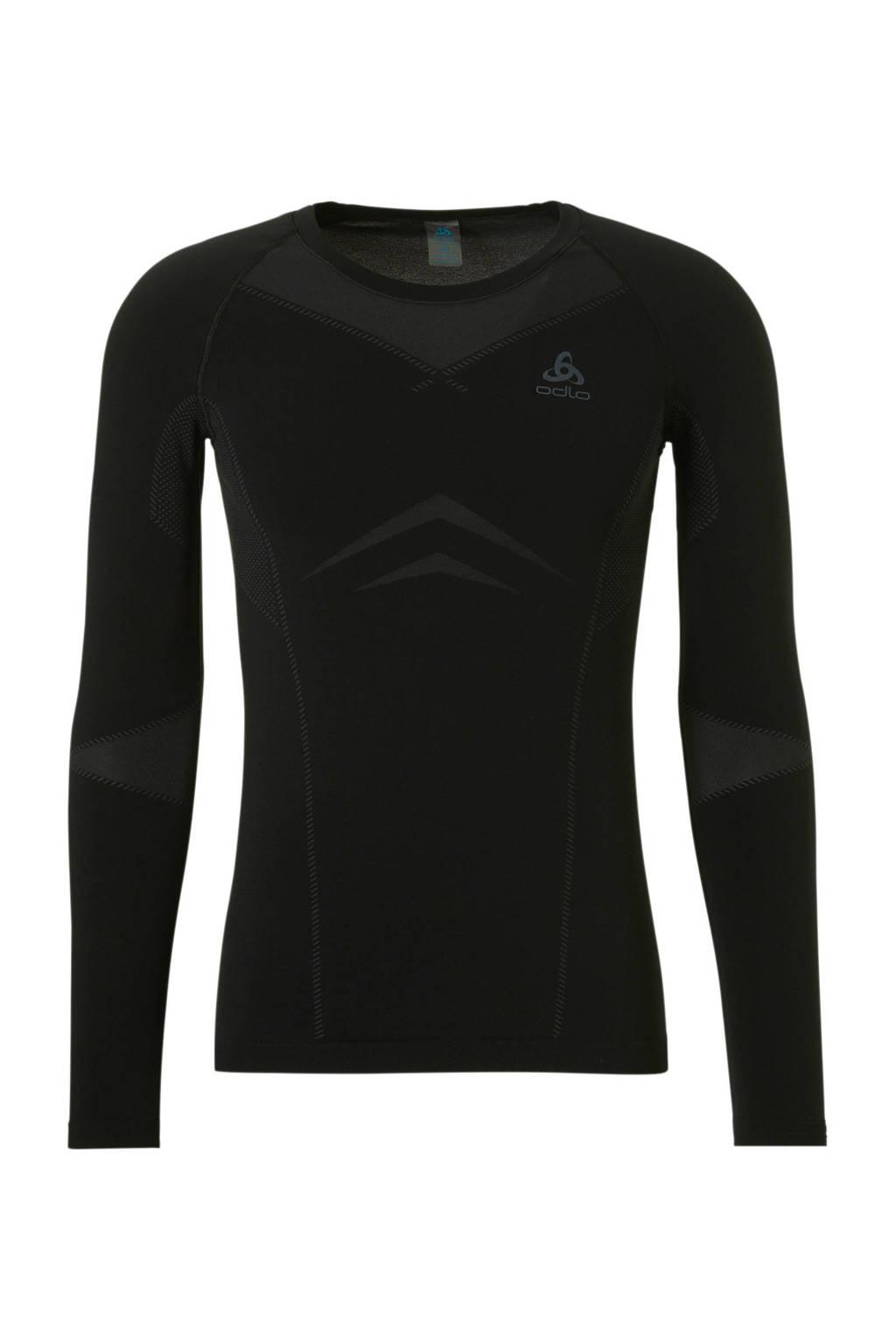 Odlo thermo sport T-shirt LIGHT zwart, Zwart