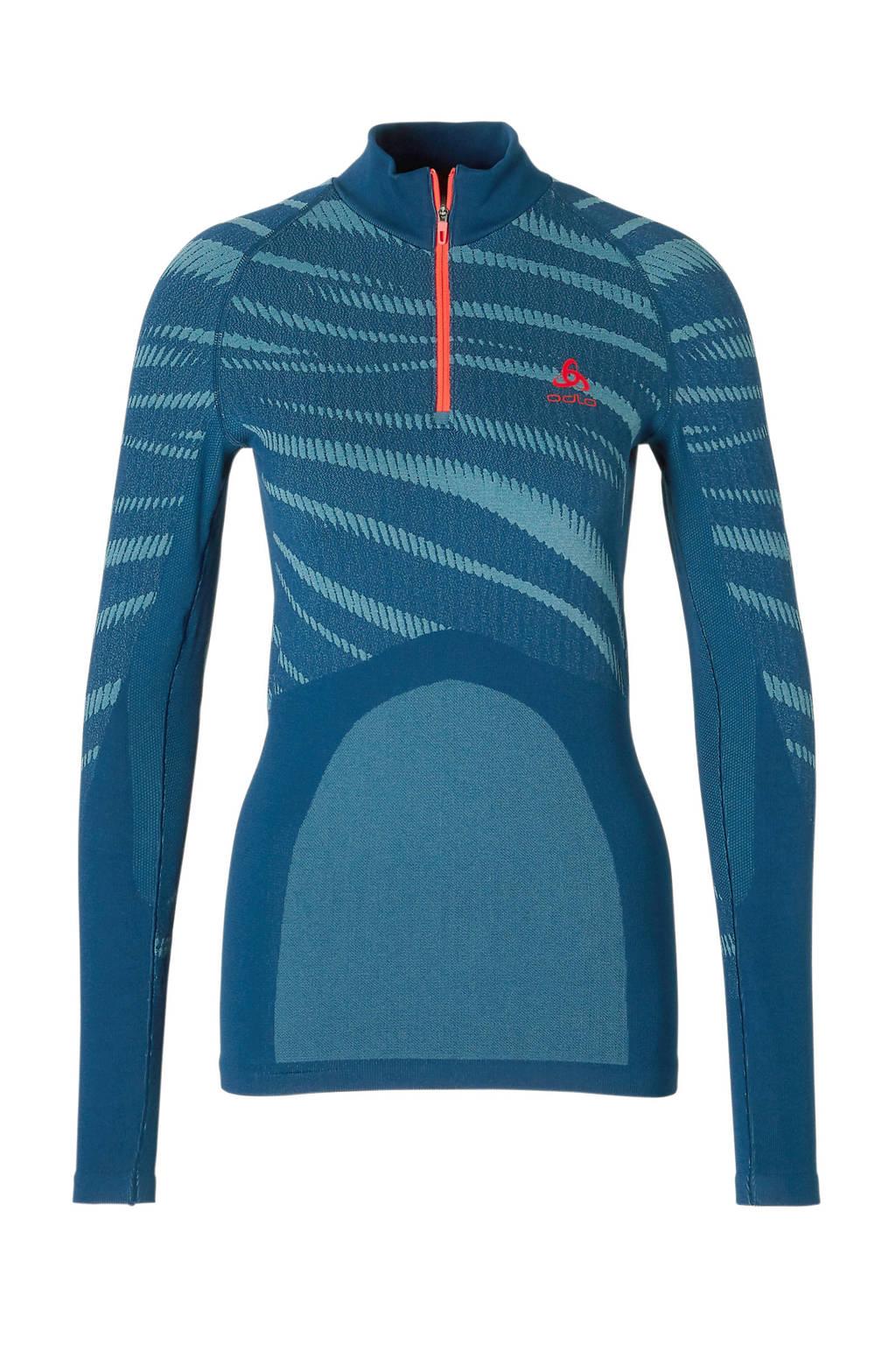 Odlo sport T-shirt blauw, Blauw