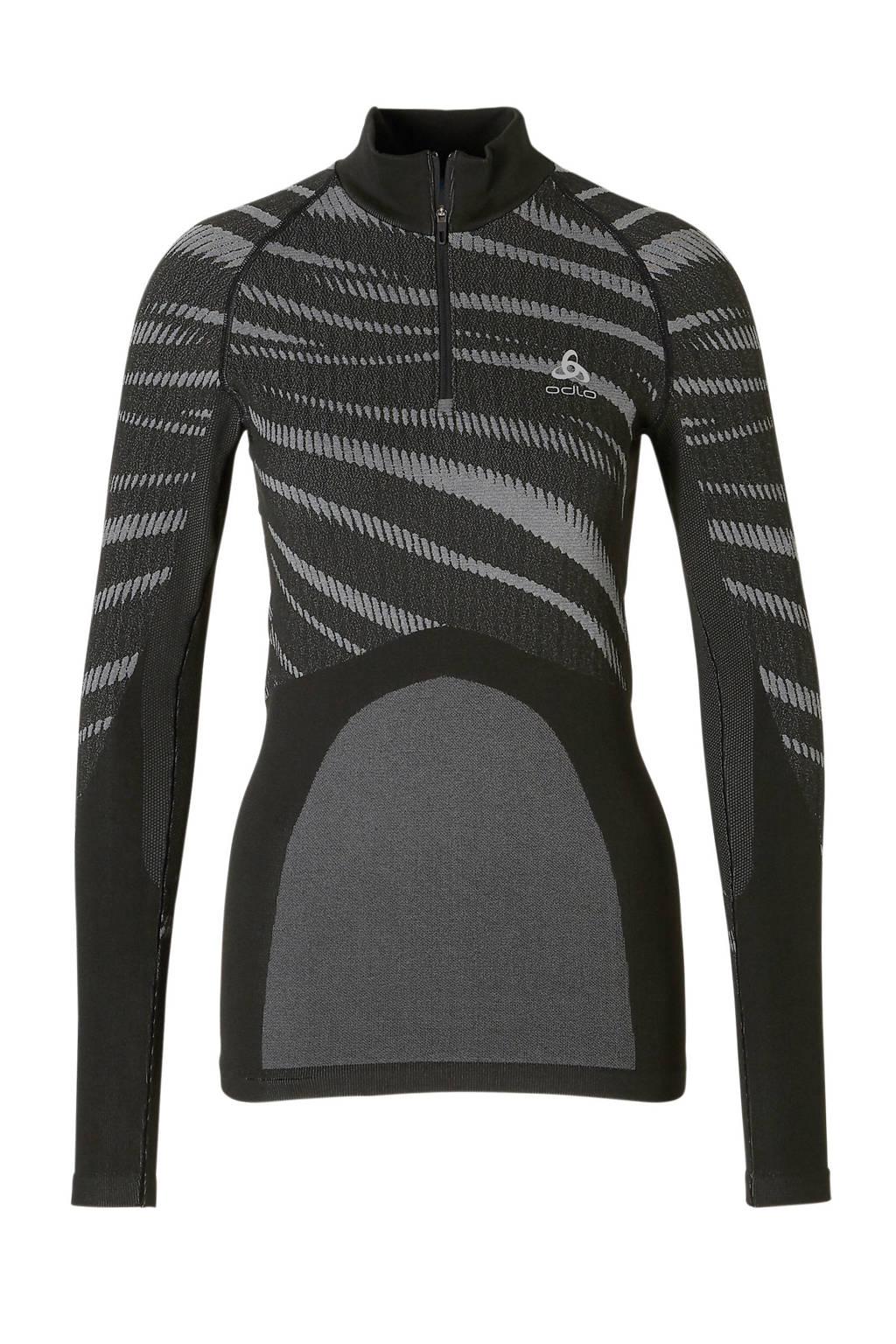 Odlo sport T-shirt zwart, Zwart