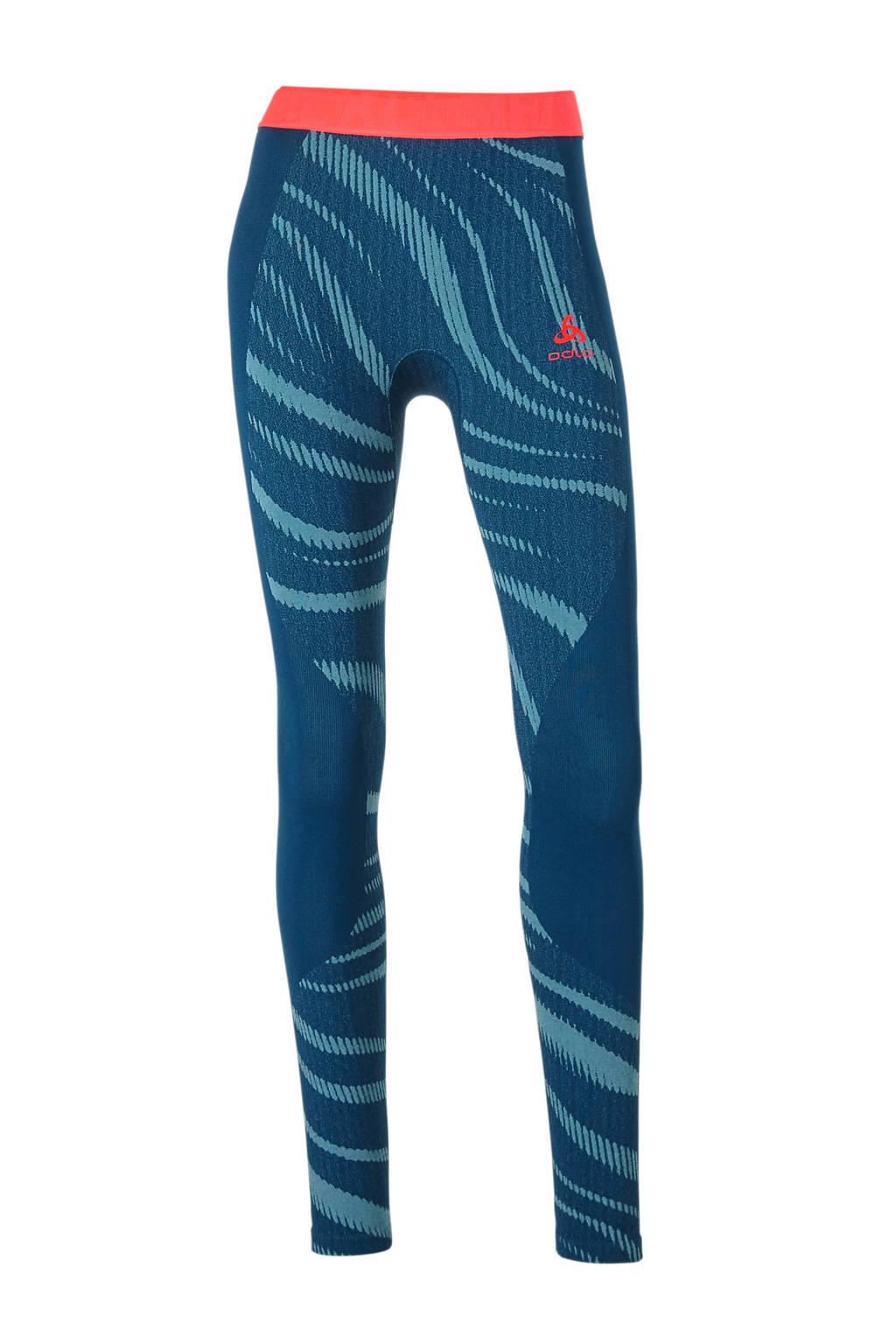 Odlo sportlegging Thermo blauw, Blauw/roze