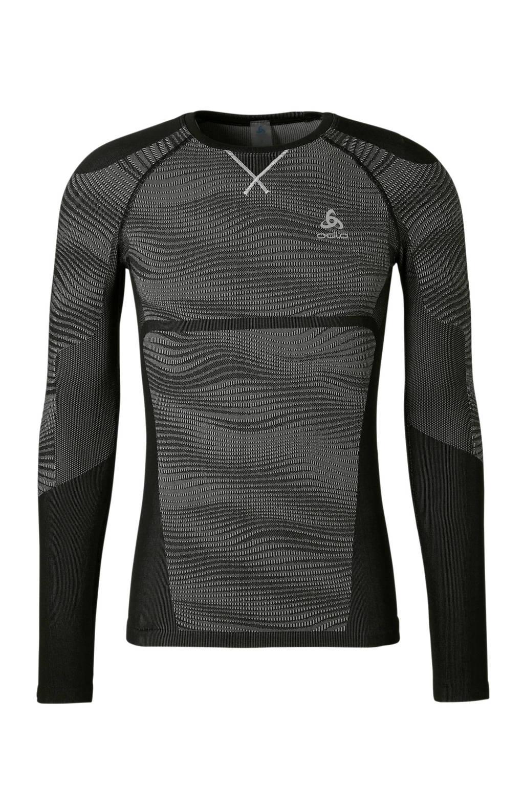 Odlo   sport T-shirt Thermo zwart, Zwart/grijs