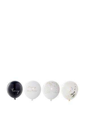 ballonnen Happy New Year (set van 24)