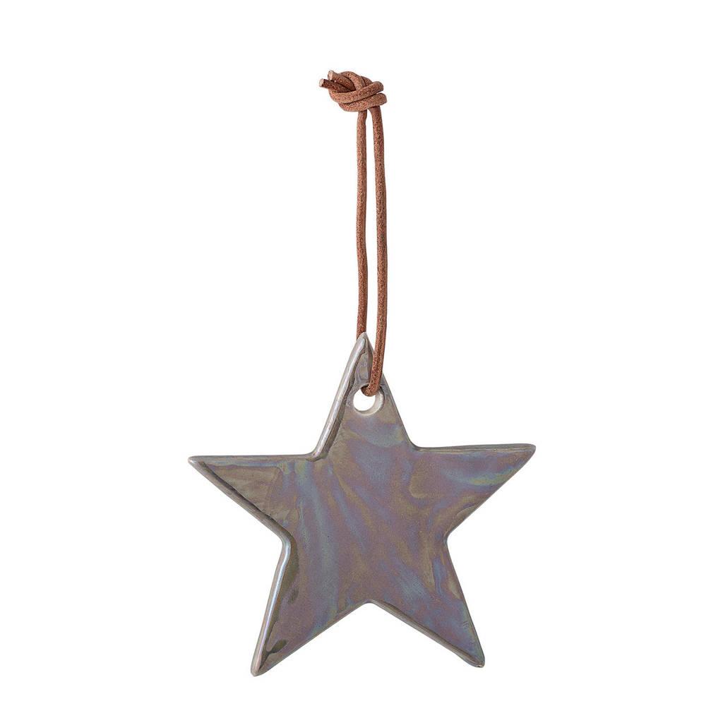 Bloomingville kersthanger ster (Ø7 cm), Bruin