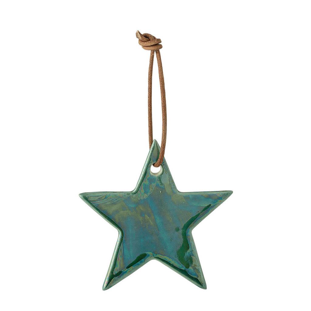 Bloomingville kersthanger ster (Ø7 cm), Groen