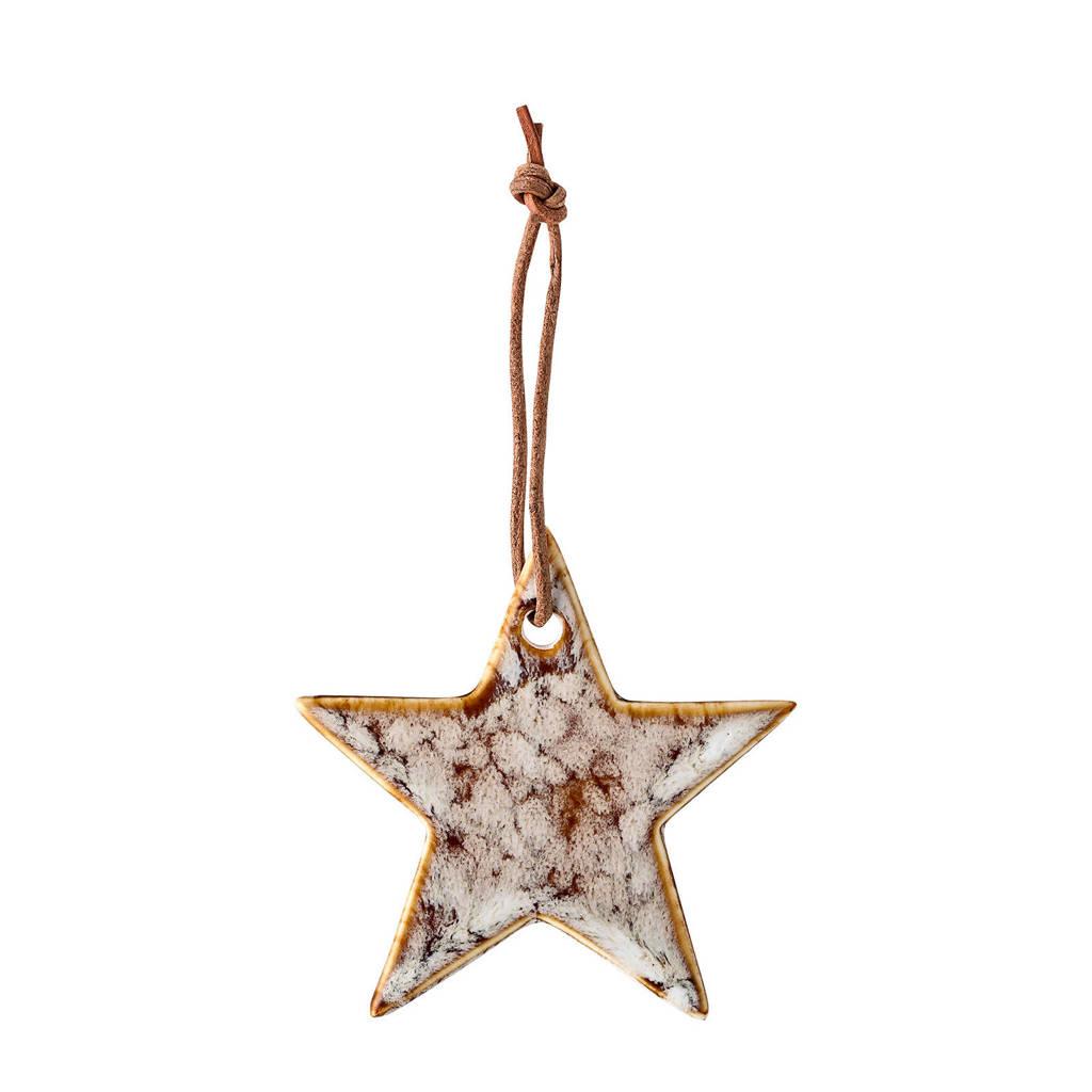 Bloomingville kersthanger ster (Ø7 cm), Beige