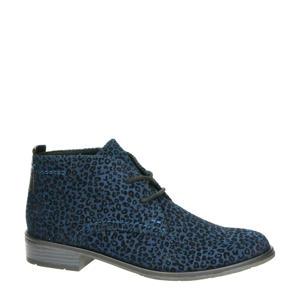 veterschoenen met panterprint blauw