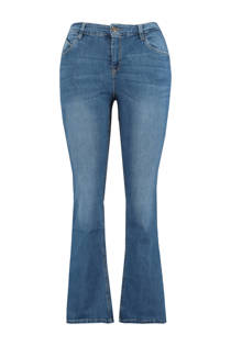 MS Mode flared jeans blauw (dames)