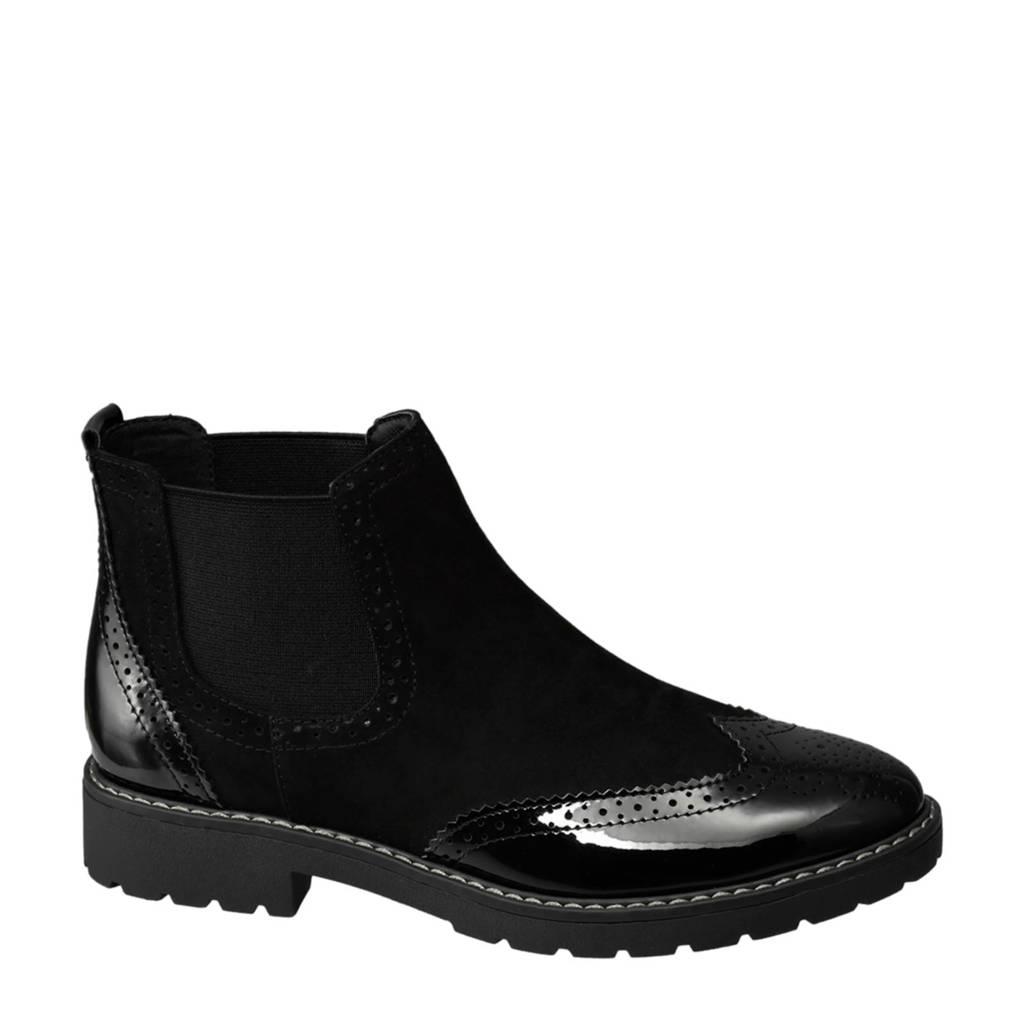 vanHaren Graceland  chelsea boots zwart, Zwart