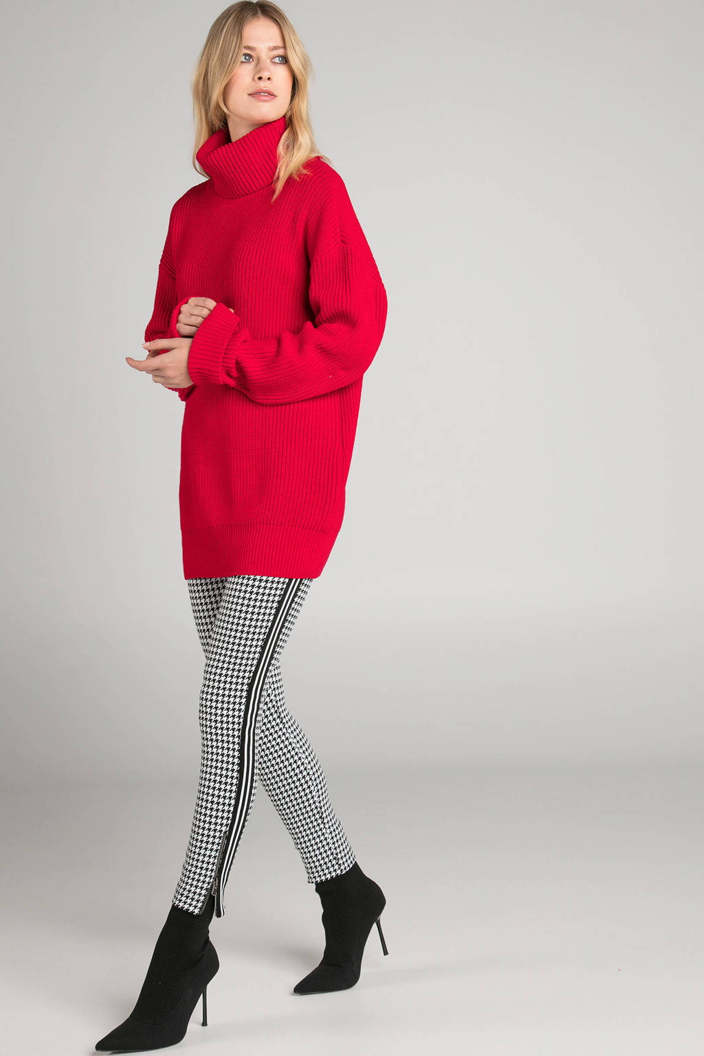 Claudia Sträter oversized coltrui rood, Rood
