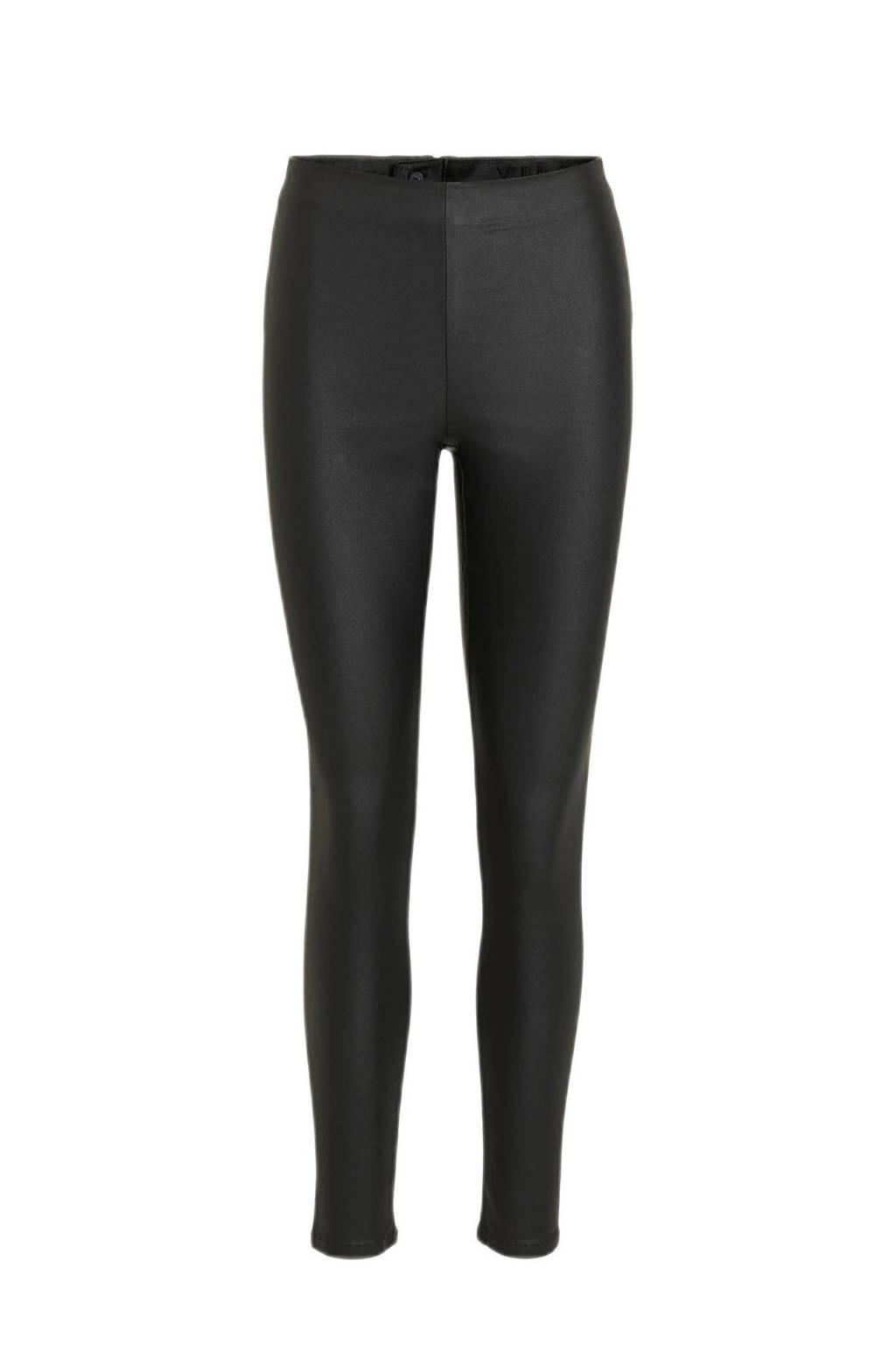 VILA gecoate legging, Zwart