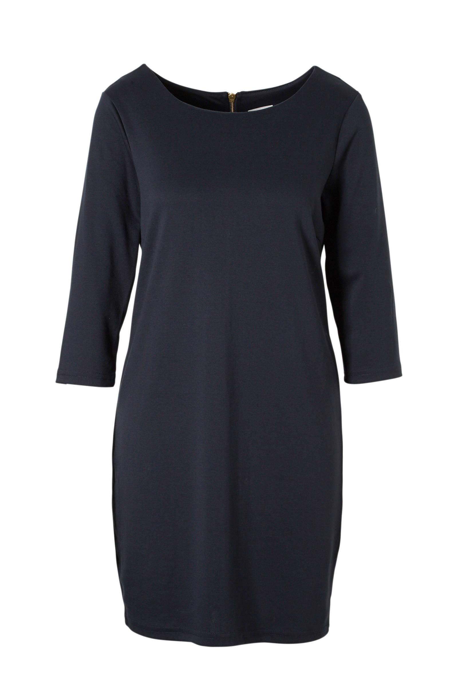 vila jurk donkerblauw
