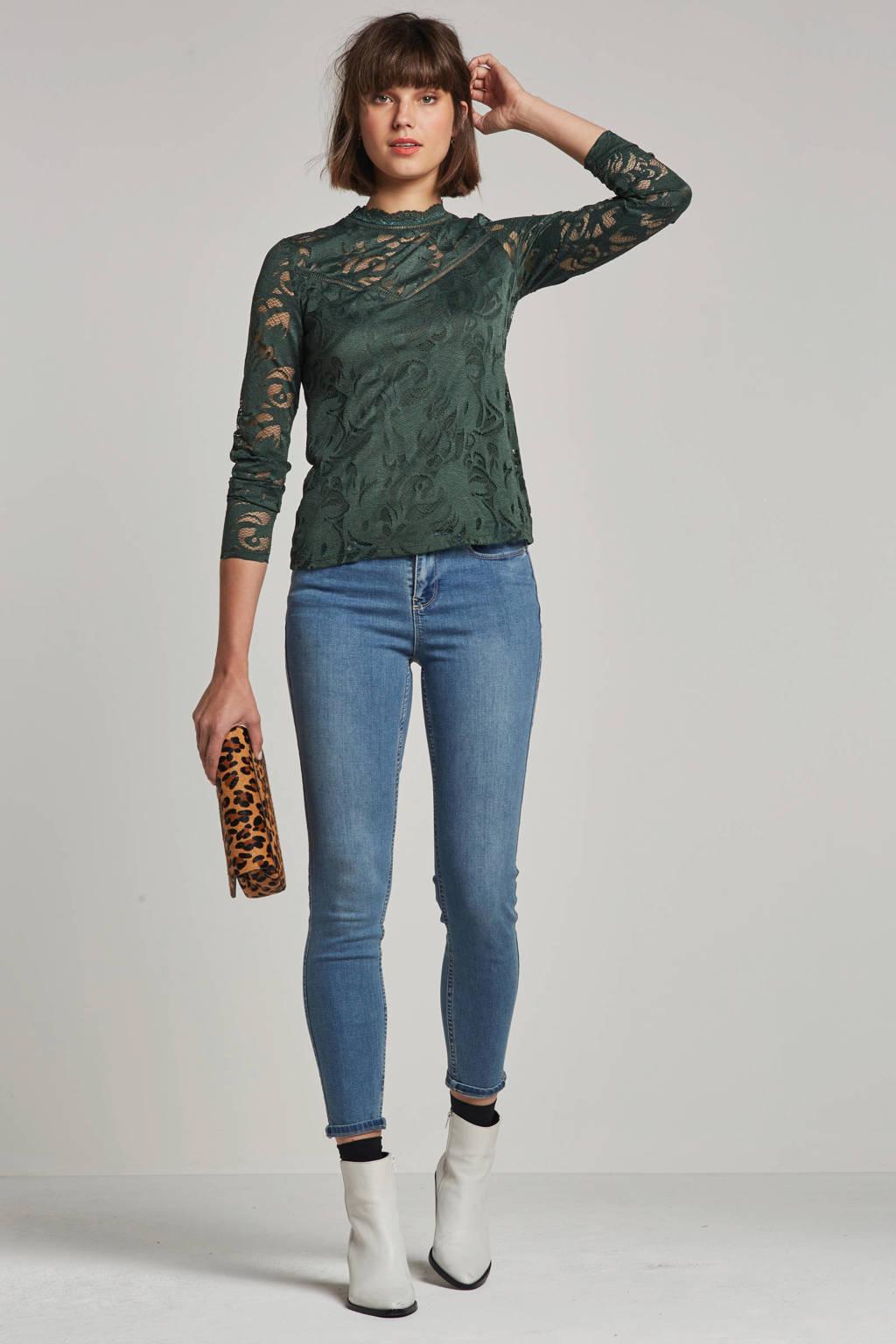 VILA skinny fit jeans, Lichtblauw