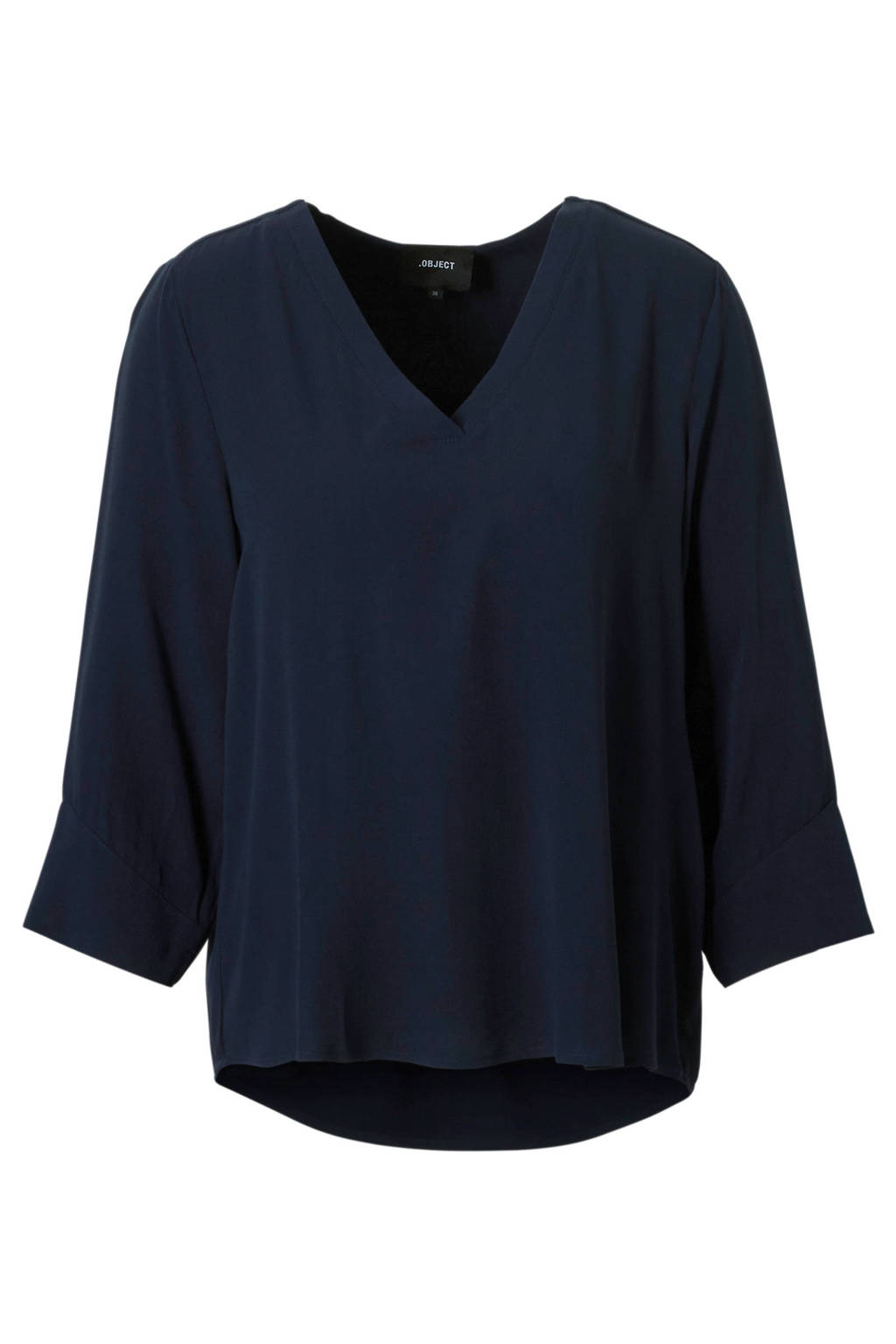 OBJECT basic top donkerblauw, Donkerblauw