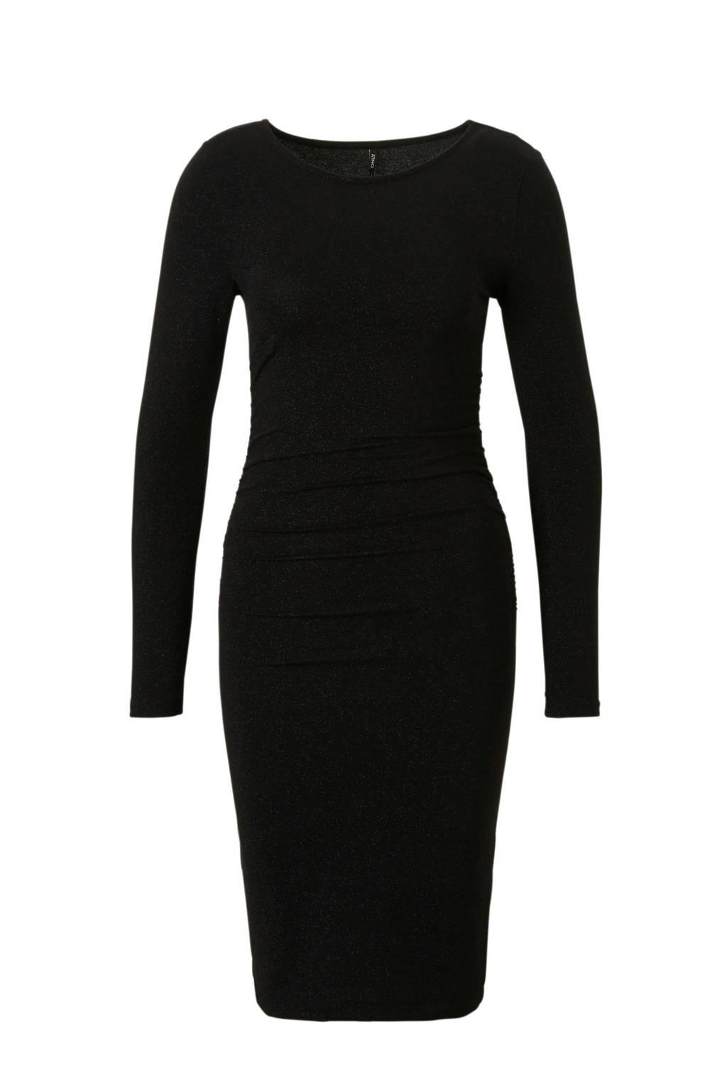 ONLY glitter jurk, Zwart
