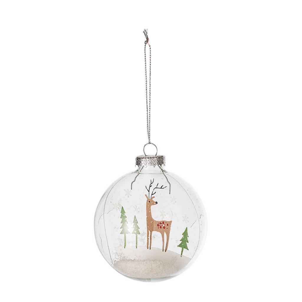 Bloomingville kerstbal transparant (Ø8 cm), Transparant