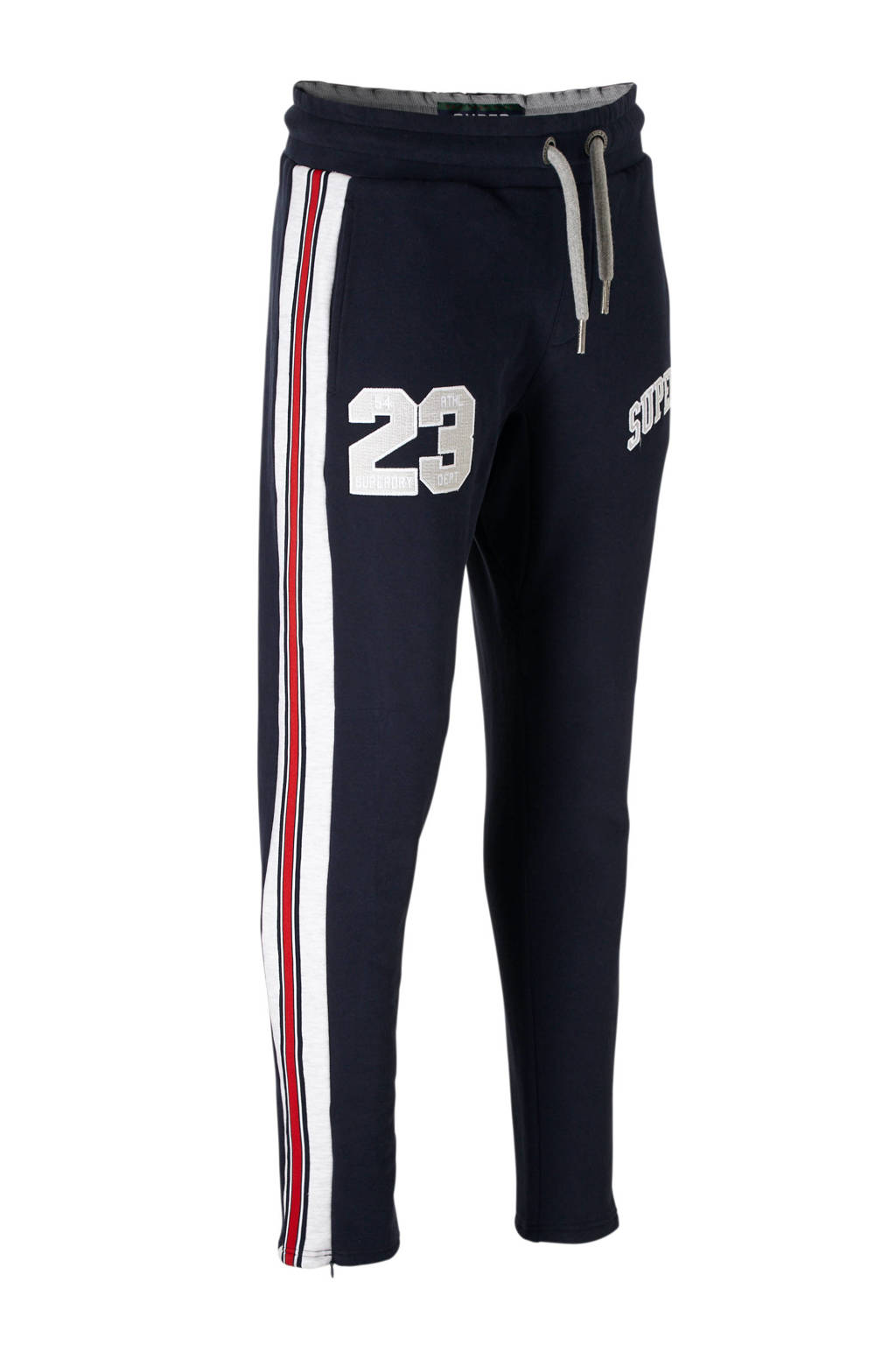 Superdry tapered fit sweatpants, Blauw
