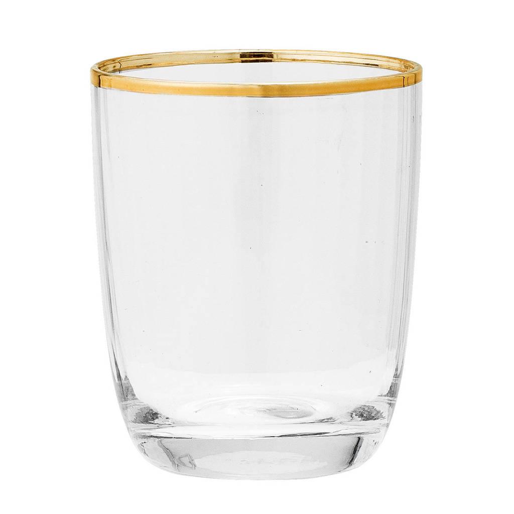 Bloomingville waterglas (Ø8,5 cm), transparant/goud