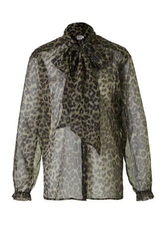 blouse met panterprint