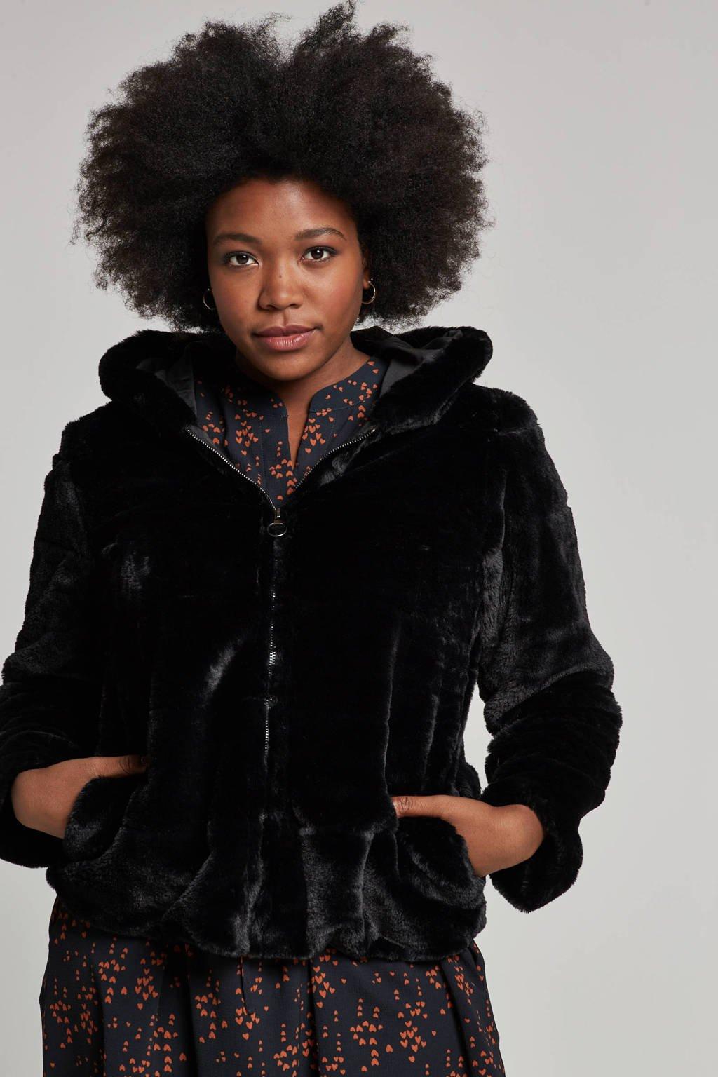 ONLY carmakoma jas met capuchon, Zwart