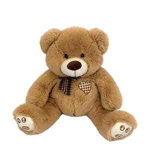 beer met strik knuffel 66 cm