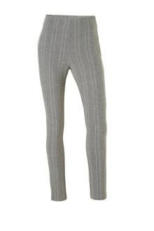 skinny fit broek met streepdessin