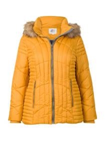 Miss Etam Plus gewatteerde jas geel (dames)